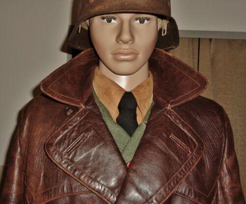 Original WW2 German Luftwaffe Overcoat SA Leather Greatcoat Elite Uniform Parka