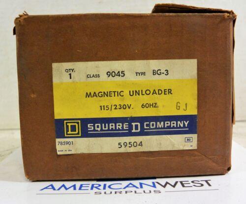 9045BG3 SQUARE D Magnetic Unloader 115/230v  GJ 9045 BG-3 NEW old stock