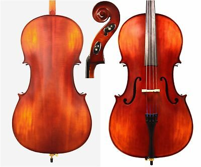 100% Hand Made Cello, 4/4 Size Solid Wood Cello, Prelude Strings+ Bag +Bow