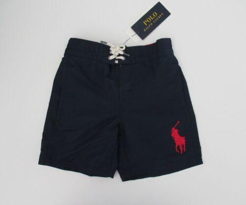 NWT Ralph Lauren Traveler Navy Big Pony Shorts Swim Trunks Suit 2t 3t 4t NEW $45