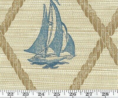 Double Roll of Nautical Ralph Lauren Wallpaper R$288/DR S.S. Hessie CL Slate