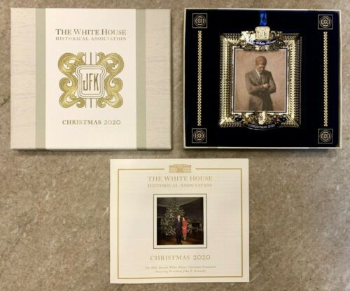 Brand New 2020 White House Christmas Ornament JFK NIB Free Ship