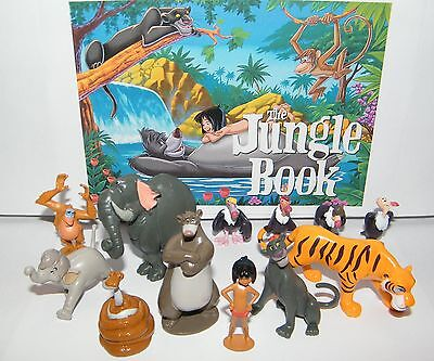 Disney The Jungle Book  Figure Set of 13  Mowgli, King Louie, Baloo,4 Vultures