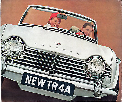 Triumph TR4A 1965-67 UK Market Sales Brochure