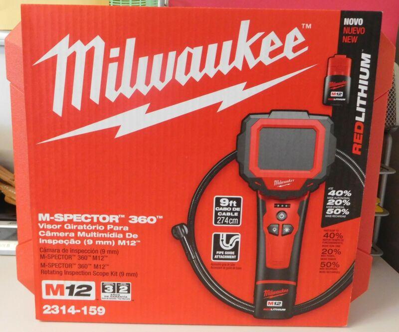 Milwaukee 2314-159 M12 12V M-Spector 360 Inspection Camera 9 Foot Kit 220-240V E