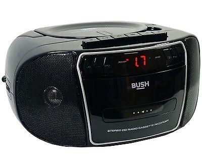 Bush CD Radio Cassette Boombox With Radio - Black/Silver KBB500