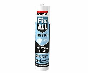 1x 300gr Soudal Fix All Crystal Universalkleber Alleskleber Kleber Polymer