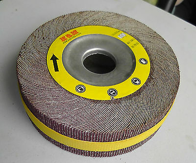 6-in Abrasive Flap Sanding Wheel 6x1x1 Ao 80 Grit Unmounted