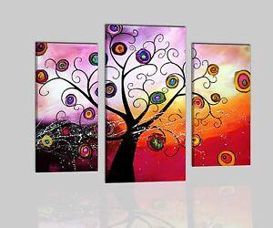 Quadri moderni astratti albero dipinti a mano olio su tela for Dipinti a mano su tela