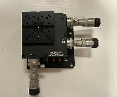 Thorlabs Optics Nanomax Piezo-actuated Xyz Stage 3drv3 Differential Micrometer