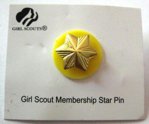 Girl Scout MEMBERSHIP STAR PIN Uniform 1-Year Award NEW + Junior YELLOW Disc!