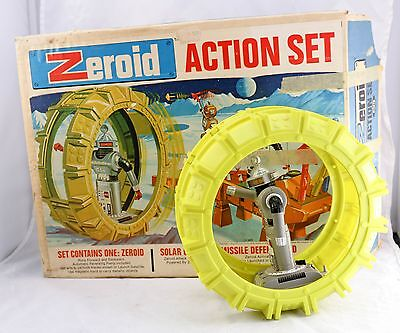 Ideal Zeroid Action Set Box w Zintar Robot -For Parts