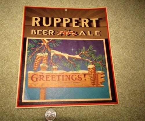 1944 RUPPERT BEER & ALE wall calendar NEW YORK