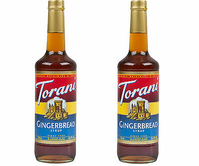 Torani GINGERBREAD Syrup 750 ml Flavoring Tot Coffee Espresso LOT of 2 FREE S&H