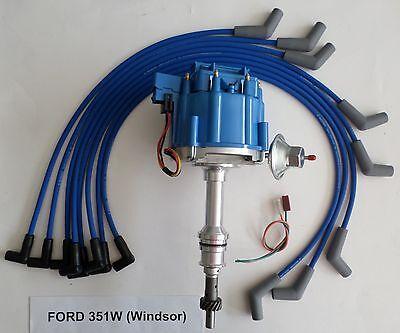 ford 351w windsor blue hei distributor 8mm spiral core. Black Bedroom Furniture Sets. Home Design Ideas