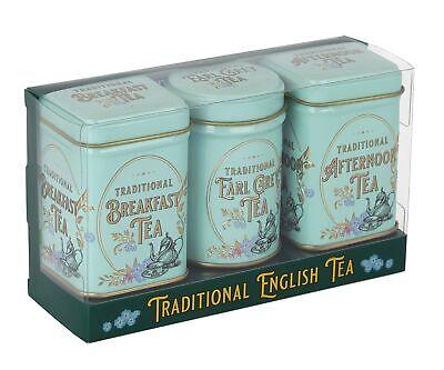 New English Teas Vintage Victorian Mini Tea Tin Triple Gift Pack