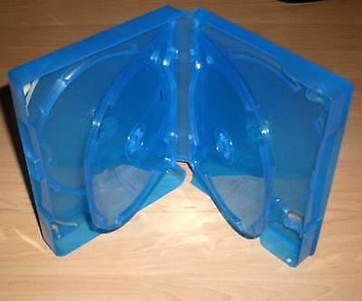 Blu Ray Hülle Sechsfach 6fach 6-fach blau Blu-Rays Blue Ray 6er Breite 25mm Neu