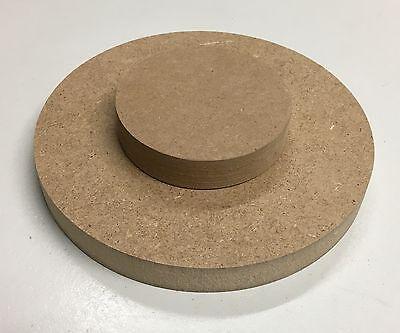 26,25€/m² MDF (roh braun) 19mm runde Holz Platte Scheibe Tischplatte nach Wahl