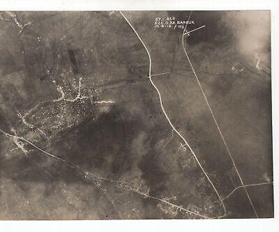 Bareux ( Bayeux ? ) France - WW1 1918 Aerial Photo