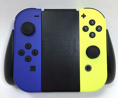 Nintendo Switch Joy-Con Controllers Blue/Neon Yellow PowerA Comfort Grip