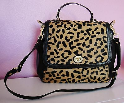 Flap Tote Handbag - NWT COACH PARK Haircalf Leopard FLAP Shoulder Tote Handbag ~RARE & AUTHENTIC~