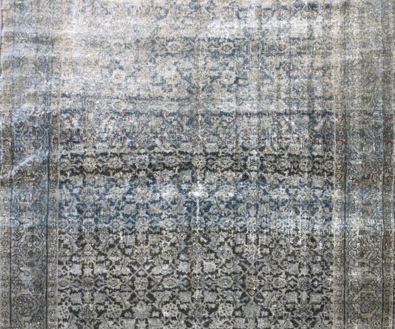 Fantastic Floral - 1900s Antique Oriental Rug - Handmade Carpet - 4.6 X 6.1 Ft
