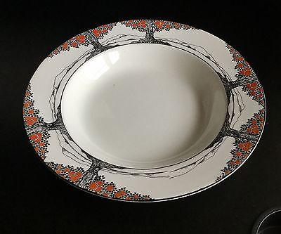 Crown Ducal Orange Tree Art Deco Perfect Rare 10 Inch Round Soup Dish