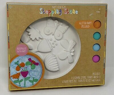 Paint Your Own CERAMIC STEPPING STONE Kit Great For Easter Basket Spring Summer - Stepping Stone Kits