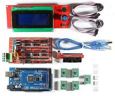 Ramps 1.4 Setkit Fr Reprap 3d Drucker - Mega 2560 5x A4988 2004 Lcd Arduino