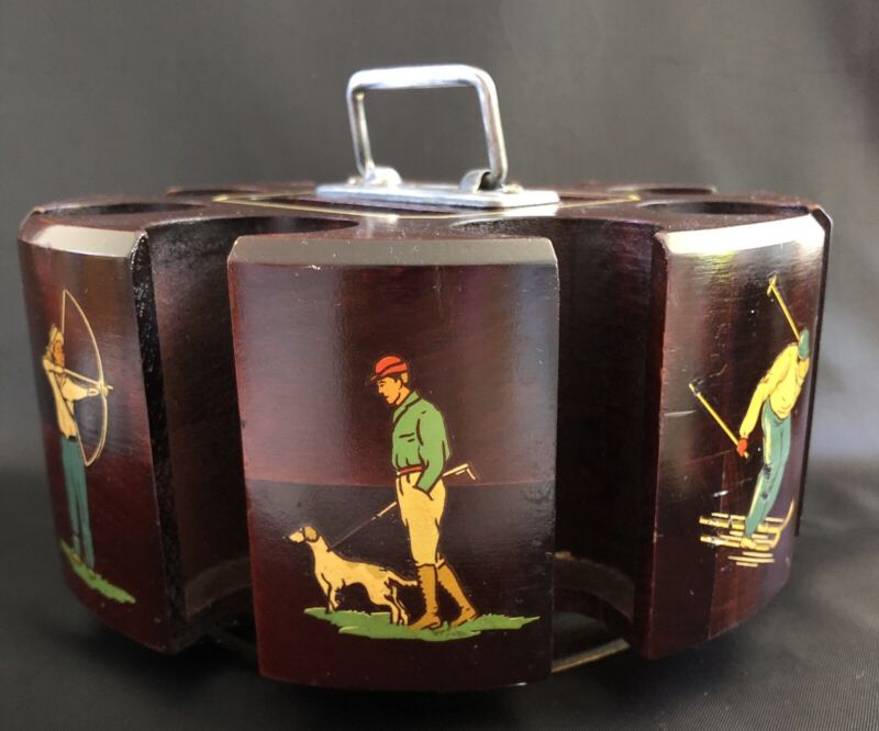 Vintage Poker Caddy DRUEKE SPORTING EDITION #52506 1950