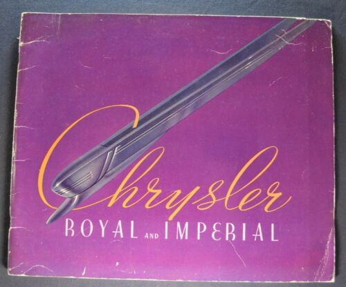 1937 Chrysler Prestige Catalog Brochure Imperial Royal Nice Original 37