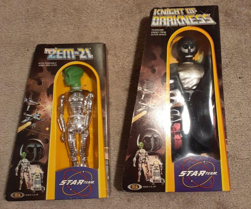 Star Team  Zem-21 Robot Figure, knight of Darkness & Star Hawk Ideal 1977 New/B