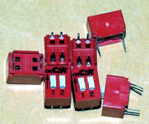 1 Lot of 74 pieces C & K 2 position Dip Switch p/n BD02