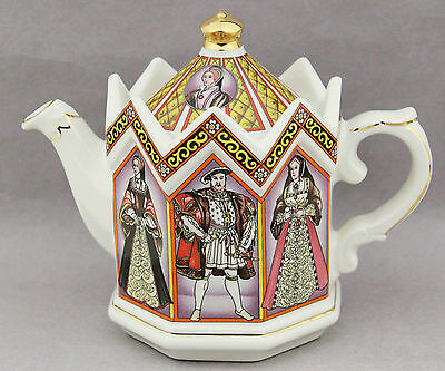 Sadler 'Henry V111 and His Six Wives' Teapot English China Collect High Tea