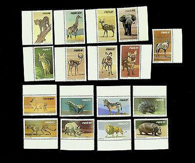 SOUTH WEST AFRICA WILDLIFE ANIMALS 17v MARGINAL MNH STAMPS