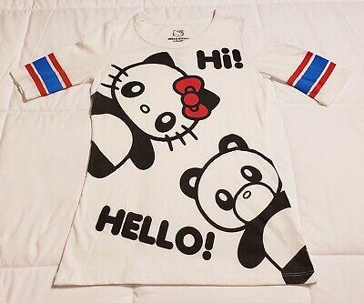Hot Topic Sanrio DOE Hello Kitty Panda Bear Football Style Shirt Size Medium