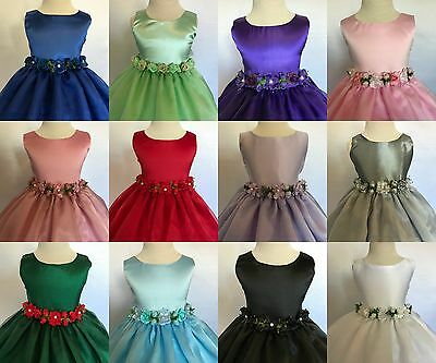 Flower Girl Wedding Bridesmaids Elegant Formal Pageant Recital Organza Dress #35 - Flower Girl Dresses Organza