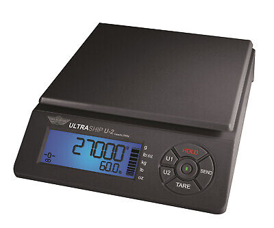 Postal Scale Myweigh Ultraship U2 Dual Range 27kg X 2g Shipping Black Usb