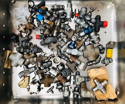 Wow Huge Lot Of Mostly New Stainless Steel Jic And Other Hydraulic Fittings