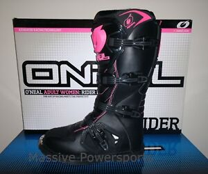 ONeal Rider Motocross Boots Pink Womens Size 9 ATV Dirt Bike Off Road Moto