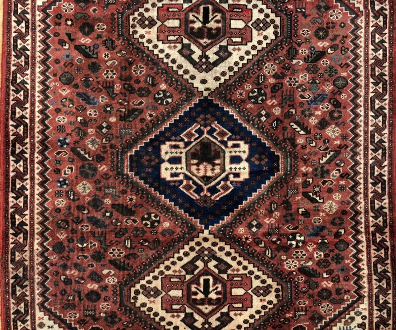 Perfect Persian - 1940s Antique Tribal Carpet - Nomadic Rug - 4.4 X 6.6 Ft.