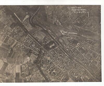 Tournai Belgium - WW1 1918 Aerial Photo