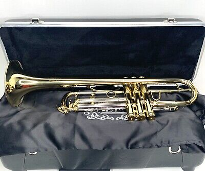 New Adams MT1 Marching Trumpet with Case, Lacquer -