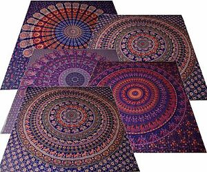Couvre lit tapisserie d coration murale d co drap inde for Decoration murale mandala