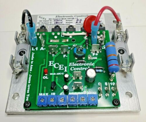 180V DC Motor Speed Controller, for: 3/4~1 HP, Input: 230 VAC. Made in USA.