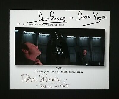 STAR WARS SIGNED DAVE PROWSE & RICHARD Le PARMENTIER, VADER & MOTTI, DEATH STAR!