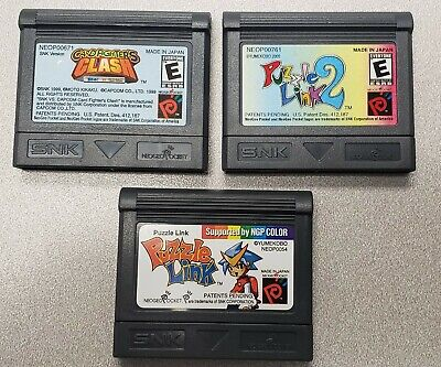 Lot of 3 NeoGeo Pocket Video Games -OD