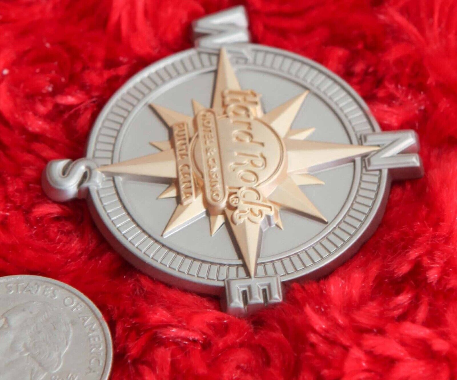 Hard Rock Cafe Pin PUNTA CANA Hotel Casino 3D European Compass Hat Lapel Mexico - $19.99
