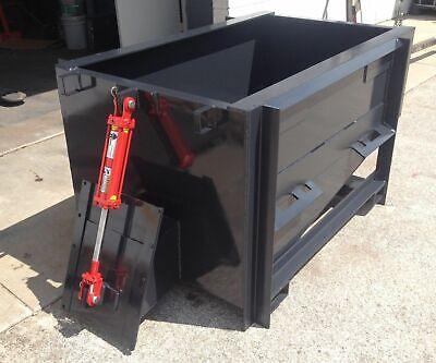 Skid Steer Forklift Telehandler 1 Yard Concrete - Cement Bucket- Hopper