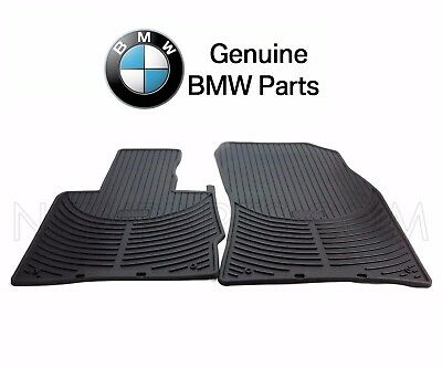 NEW For BMW E53 X5 00-06 Front Rubber Floor Mat Set Black All Weather Genuine Bmw 2002 Rubber